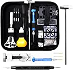 112 PCS Watch Repair Kit, Eventronic Professional Spring Bar Tool Set Watch Band Link Pin Tool Set with Carrying Cas PCS Watch Repair Kit, Eventronic Professional Spring Bar Tool Set Watch Band Link Pin Tool Set with Carrying Case 112