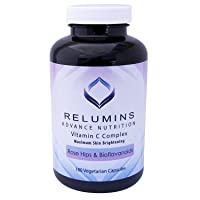 Relumins Advance Vitamin C - MAX Skin Whitening Complex with Rose Hips & Bioflavonoids - Three Month Supply!