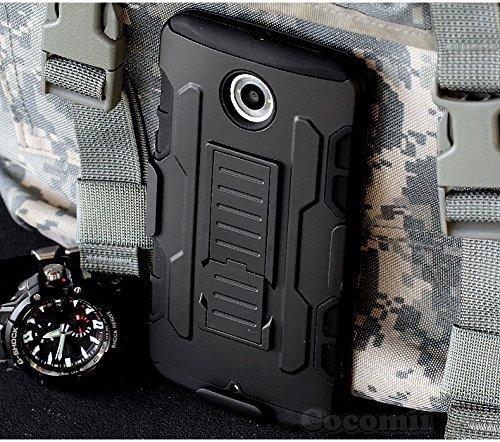 Cocomii Robot Armor Motorola Nexus 6/Nexus X Case New [Heavy Duty] Premium Belt Clip Holster Kickstand Shockproof Bumper [Military Defender] Full Body ...