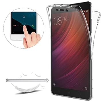 Funda Xiaomi Redmi Note 4 Carcasas [Cover 360 Grados],Funda Doble Delantera + Trasera Gel Transparente Silicona Integral Shock Absorción Anti Rasguños ...