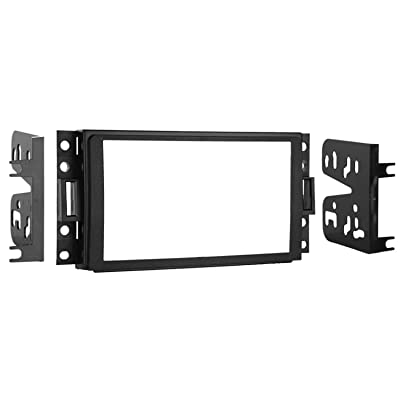 Metra 95-3304 Double DIN Installation Kit for Select 2005-2006 GM/Chevrolet Vehicles (Black): Car Electronics