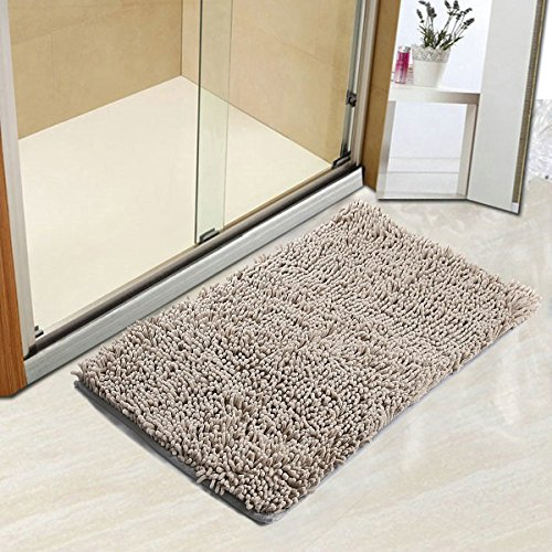 Can Bathroom Rugs Go In The Dryer: Vdomus Non-slip Microfiber Shag Bathroom Mat, 20 X 32