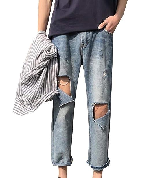 Andopa Pantalones cómodos Lavar la vendimia Pantalones ...