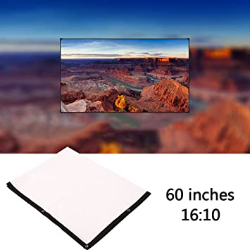 Hanbaili 16:10 Pantalla de proyectores para exteriores de 60 ...