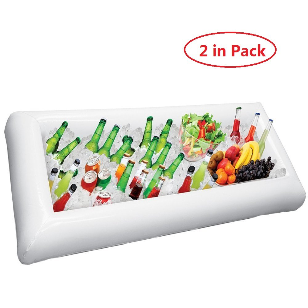 Amazon.com | YOHEER Inflatable Salad Bar Buffet - Large Buffet Tray Server With Drain Plug- Ice Cooler Beverage Serving Bar-Food Drink Holder - For Parties ...