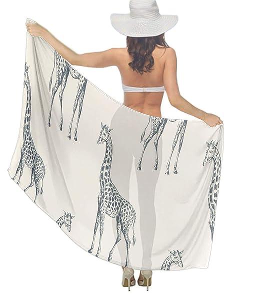Amazon.com: Bufanda larga de gasa para mujer, cuello suave ...