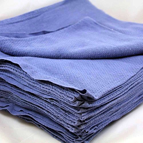 100 NEW LINT FREE BLUE SHOP TOWELS HUCK SURGICAL DETAILING GLASS JANITORIAL by Gogad