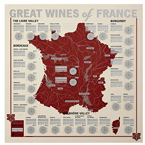 France Map Wine Region - Great Wines of France: Unique Wine Tasting Map