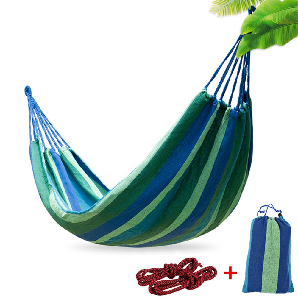 Epangda Amaca da Giardino- Catone Traspirante /265*150cm/ Carica da 300KG/2 Corde in Nylon/Colori Luminosi /Borse di Imballaggio-Amaca da Campeggio m-208