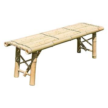 Gartenbank Holz Natur Galerie | Amazon De Homestyle4u 1031 Gartenbank Holz Holzbank Natur Bambus