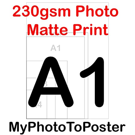 aa0601b46c A3 A2 A1 A1+ A0 230GSM Poster Printing Service Custom Wall Art 100%  Positive Reviews (A1): Amazon.co.uk: Kitchen & Home