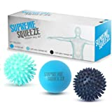 Massage Ball Roller Set - Lacrosse and Spiky Ball Combo Pack - Massage Balls Perfect for Trigger Point and Foot Massaging