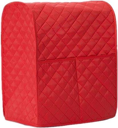 DesignerBox - Funda para mezclador de cocina, con soporte de piel, bolsa organizadora para utensilios de cocina con colección de diamantes para mantener limpio y seguro 14 x 9 x 17inch rosso: