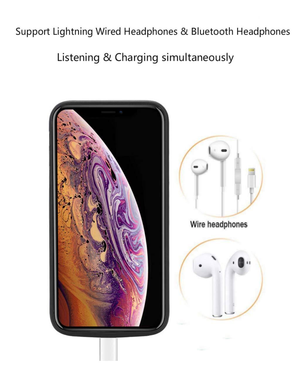6000mAh Chargeur Portable Batterie Externe Rechargeable Puissante Power Bank Coque Batterie pour iPhone XS Max 6.5 Pouces Fey-EU Coque Batterie pour iPhone XS Max
