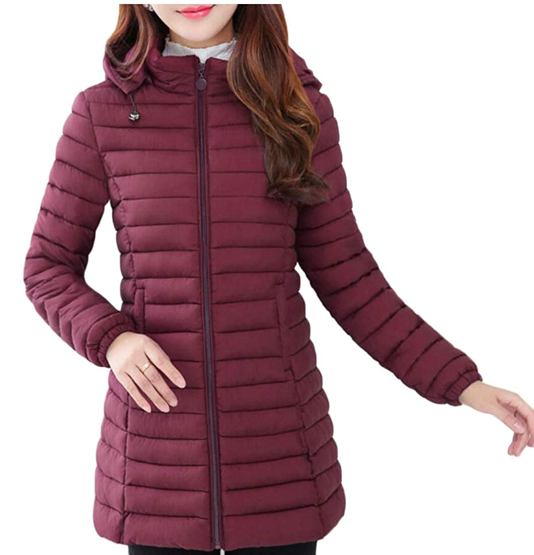 WSPLYSPJY Women's Hooded Packable Ultra Light Weight Puffer Coats Short Down Jacket