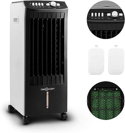 OneConcept MCH 1 V2 Rafraîchisseur d'air, Ventilateur, 65W, Volume d'air de 400m³h, 65W, Econome, Humidificateur, Nettoyeur, Filtre poussière