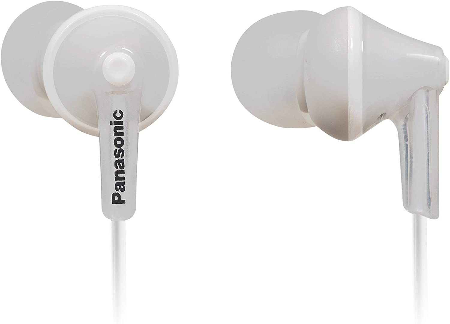 PANASONIC ErgoFit Earbud Headphones with Microphone and Call Controller Compatible with iPhone, Android and Blackberry - RP-TCM125-W - In-Ear (White)