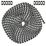 10 Foot Length Ball Chain, #10 Size, Dungeon Finish, & 10 Matching 'B' Couplings
