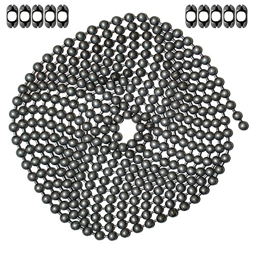 Ball Chain Suppliers (10 Foot Length Ball Chain, #10 Size, Dungeon Finish, & 10 Matching 'B' Couplings)
