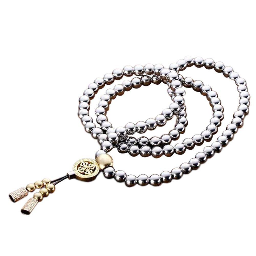 Daaseefee Cadena de collar de cuentas de Buda de autodefensa 108