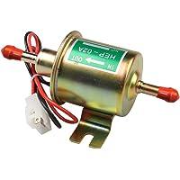 Bomba de combustible eléctrica de gasolina de bajo ruido de 5/16 pulgadas y 8 mm, sistema de conexión a tierra negativa, diseño de dos cables para las aplicaciones más importadas de 4, 6 cilindros