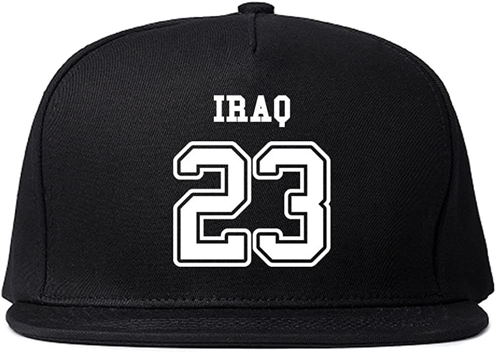 Country of Iraq 23 Team Sport Style Jersey Snapback Hat Cap