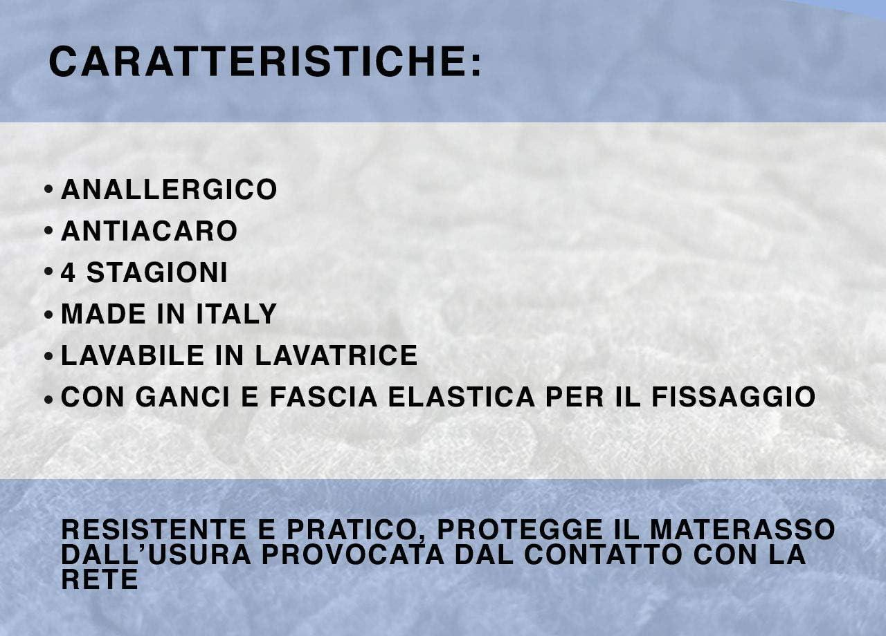 Colore:Bianco 1 Piazza Biancheriaweb Coprirete Proteggi Rete Alba In 100/% Poliestere Misura Singolo