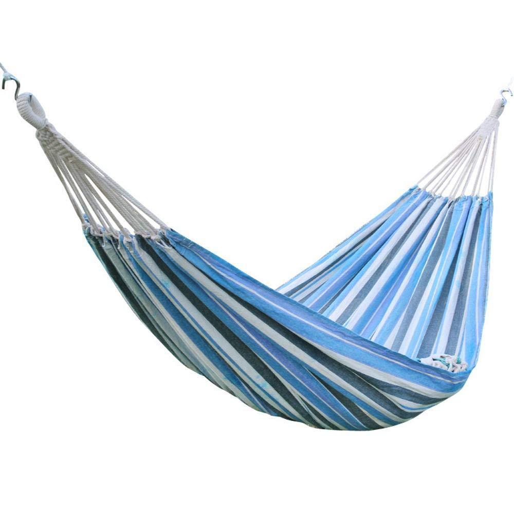 Y-YT Reise Camping Hängematte Outdoor-Freizeit-Swing-Bett Doppel Polyester-Baumwoll Canvas Hängematte 200  120cm