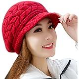 Vovotrade® Cappello donna inverno Skullies Berretti cappelli lavorati a maglia berretto di pelliccia del coniglio