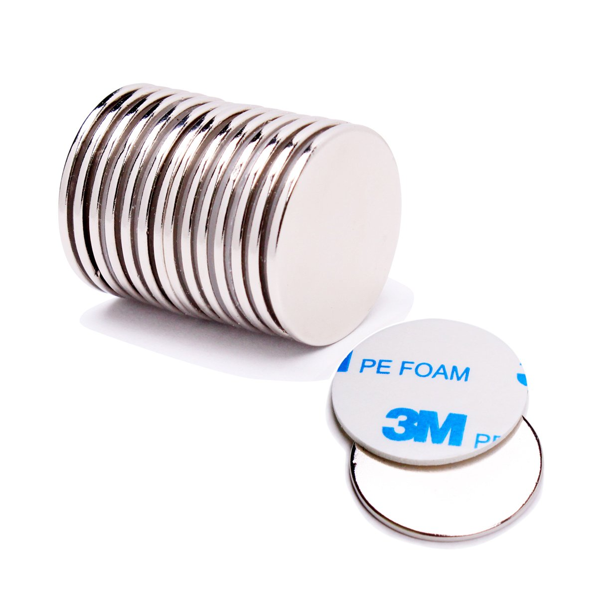 "FEYG Rare Earth Magnets 6Pcs Extra Strength Neodymium Disc Magnet with Adhesive Backing for DIY /& Fridge Magnet 1.26/""D x 1//12/""H NEG-DicsMag-B2"