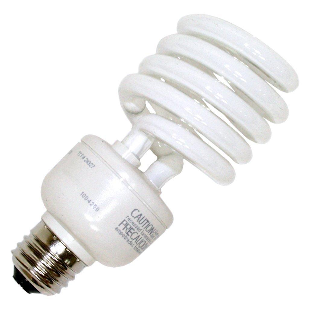 (12-Pack) TCP 2892727741K 27-watt 4100-Kelvin Springlamp Light Bulb, 277-volt