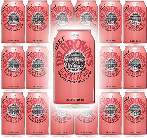 Dr. Browns Soda, Diet Black Cherry, 12 oz can (Pack of 18, Total 216 - Black Cherry Browns