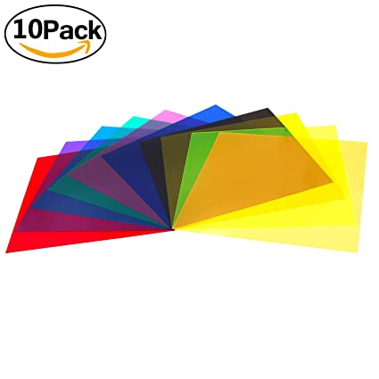 Amazon.com : Etyhf Colored Overlays Transparency Color Film Plastic ...