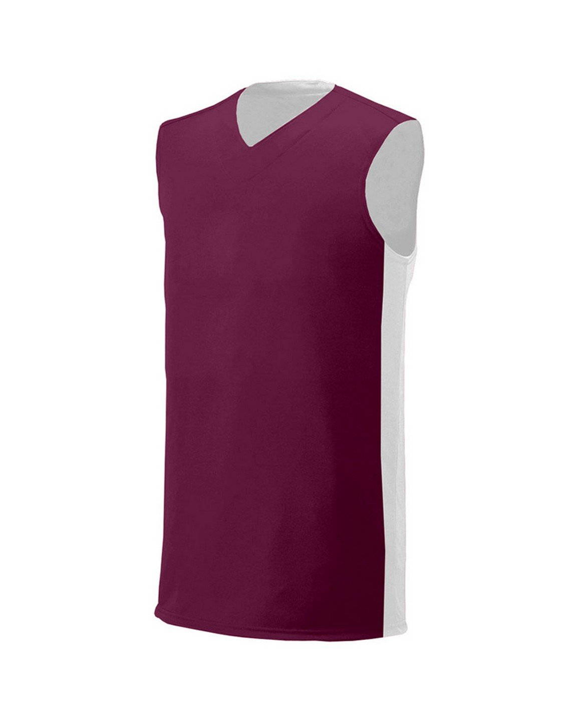 A4 Boy's Reversible Moisture Management Muscle Maroon White