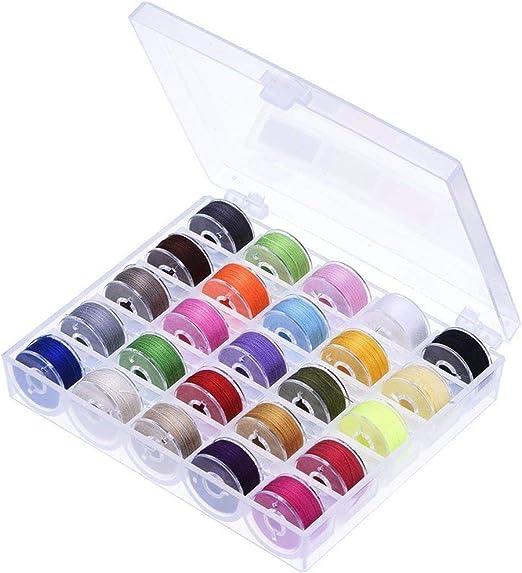 Knowooh Organizador de Caja de Bobina 25 Colores máquina de Coser ...