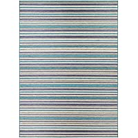 Couristan Cape Brockton Runner Rug, 23 x 119, Cobalt/Teal