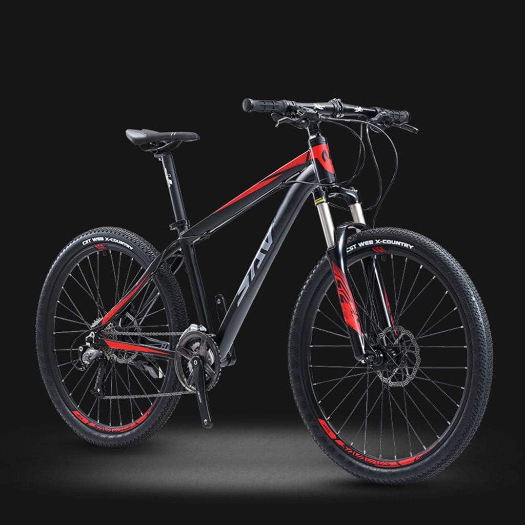 XXL Bicicleta de Montaña, 26/27.5 Pulgadas Marco de Aluminio Bikes MTB Doble Freno Disco Bicicleta de Carretera, 27 Velocidades, para Hombres y Mujeres Unisex
