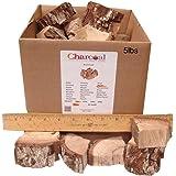 CharcoalStore Pecan Smoking Wood Chunks - Bark (5 Pounds)