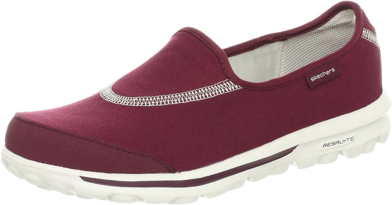 Skechers GOwalk Womens Burgundy Slip On