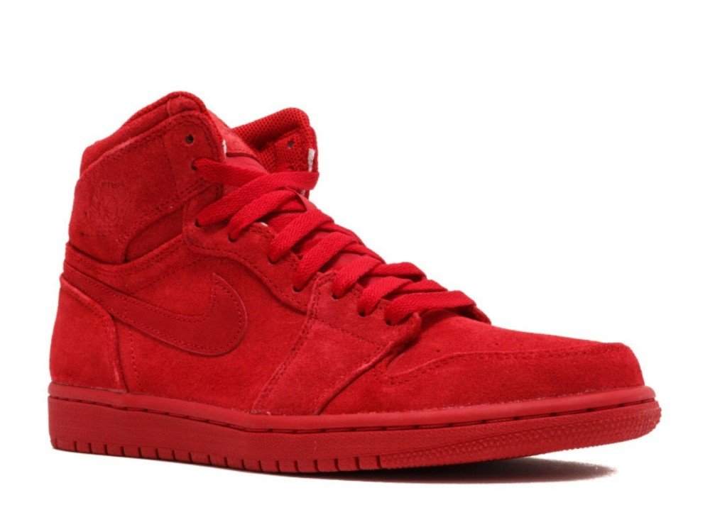 332550-603 MEN AIR 1 RETRO HIGH JORDAN GYM RED (8.5 D(M) US, GYM RED/GYM RED)