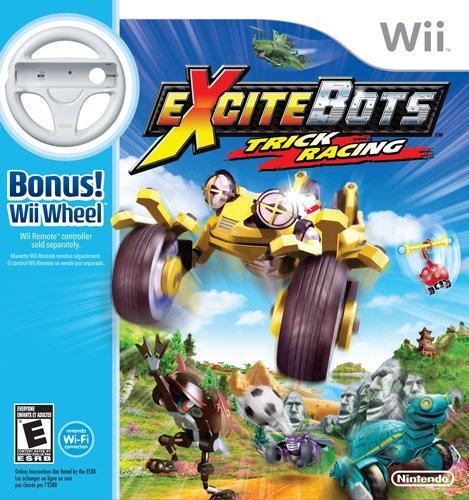 - ExciteBots: Trick Racing with Wii Wheel Bundle
