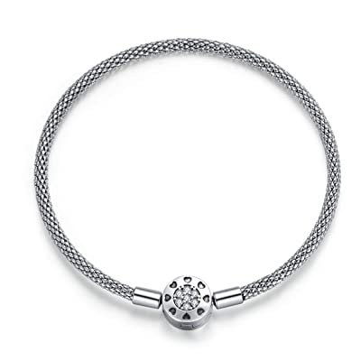 Buy Bead Charm Bracelet Net Chain Bracelet Fit Pandora Charm Photo Charm Sterling Silver Gift For Women Girl Online In Indonesia B08fj1sqhm