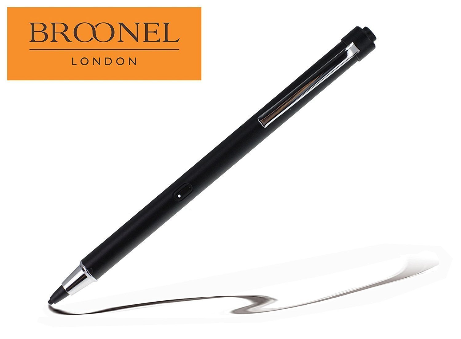 Broonel Midnight Black Rechargeable Fine Point Digital Stylus For The Samsung GalaxyNote 10.1