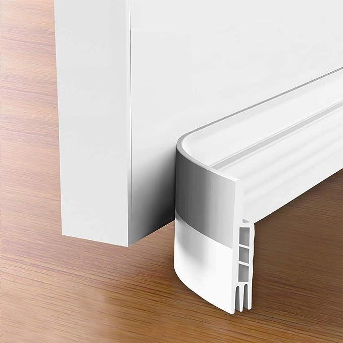"Suptikes 2 Pack Door Draft Stopper,Door Sweep for Exterior & Interior Doors, Door Bottom Seal Dust and Noise Insulation Weather Stripping Draft Guard Insulator, 1-4/5"" W x 37"" L, White - - Amazon.com"