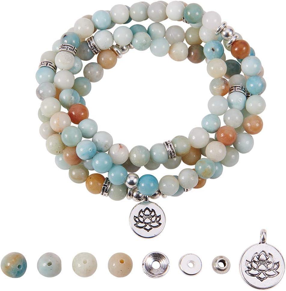 Meditation Necklace. CITRINE- DIY Mala Making Kit Yoga Necklace Yoga Necklace Make Your Own Mala