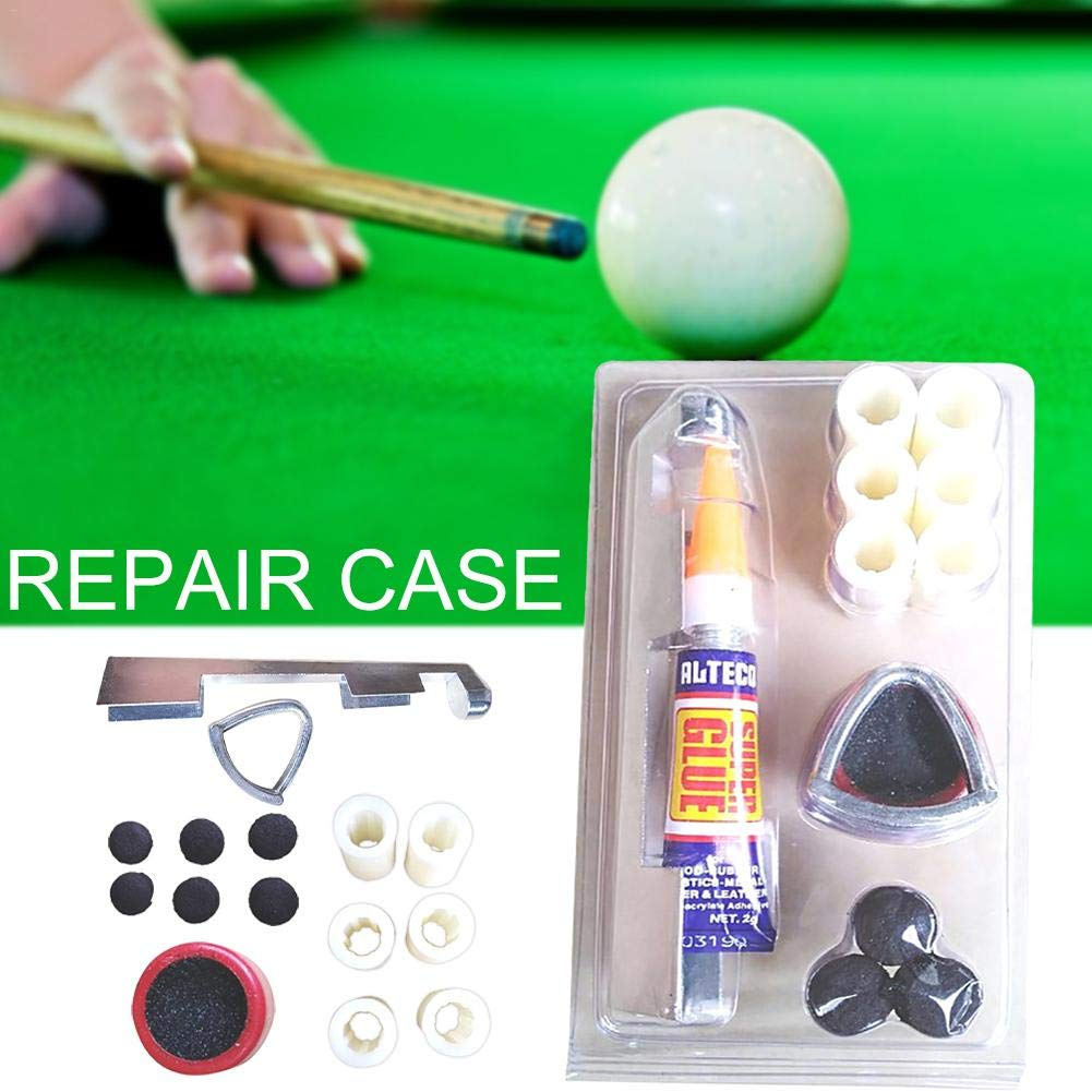 hinffinity Billiards Supplies Billiard Cue Tip Tool Repair Tools Billiard//Pool//Snooker Bowtie Cue Tips Stick Cue Care Accessory