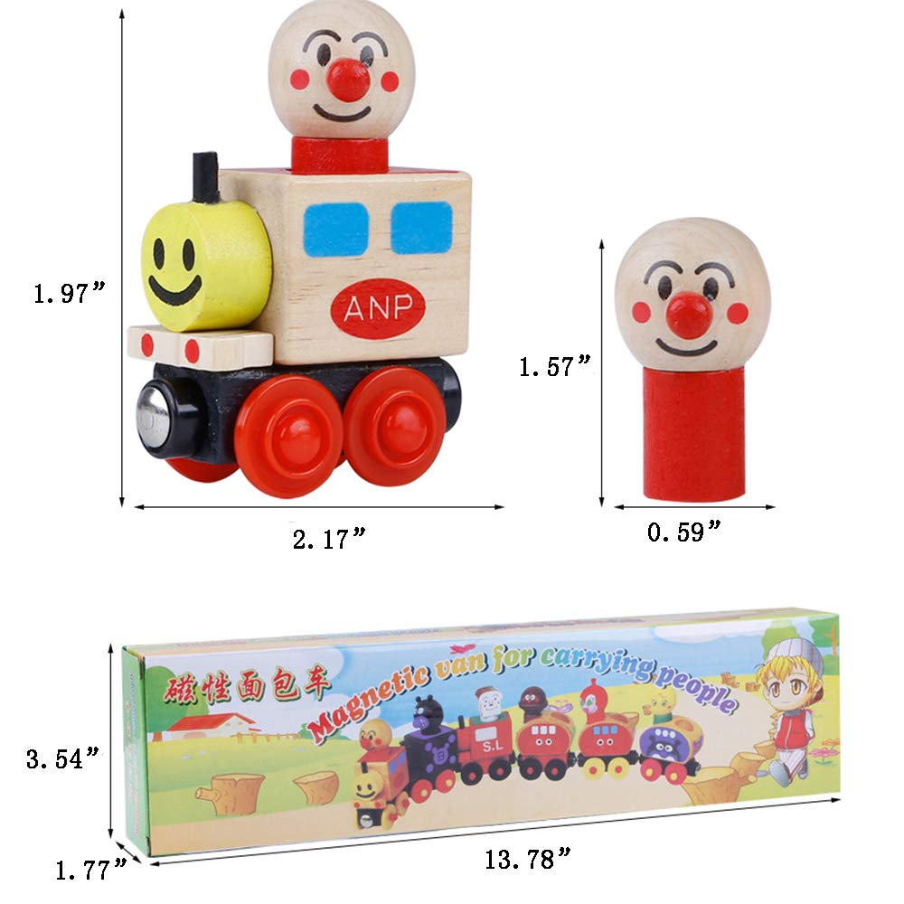 Zamango Wooden Train Set DIY Magnetic Stacking Train Toy Educational Toys for Toddlers Kids toy train