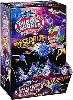 Dubble Bubble Meteorite - Bola de chicle pintalenguas, Caja con 200 unidades: Amazon.es: Alimentación y bebidas