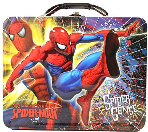 Spiderman Spider Sense Tin Lunch Box (Spider Tin Box Lunch Man)