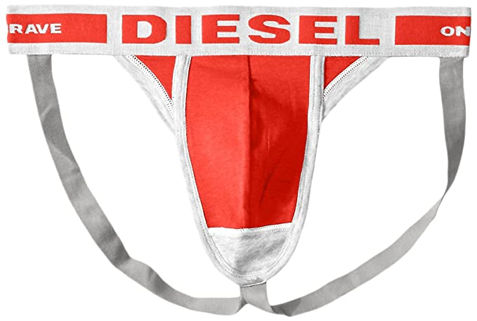 6624b794457a27 Diesel Men's Jacky Fresh and Bright Cotton Modal Jock Strap, Red, X-Large